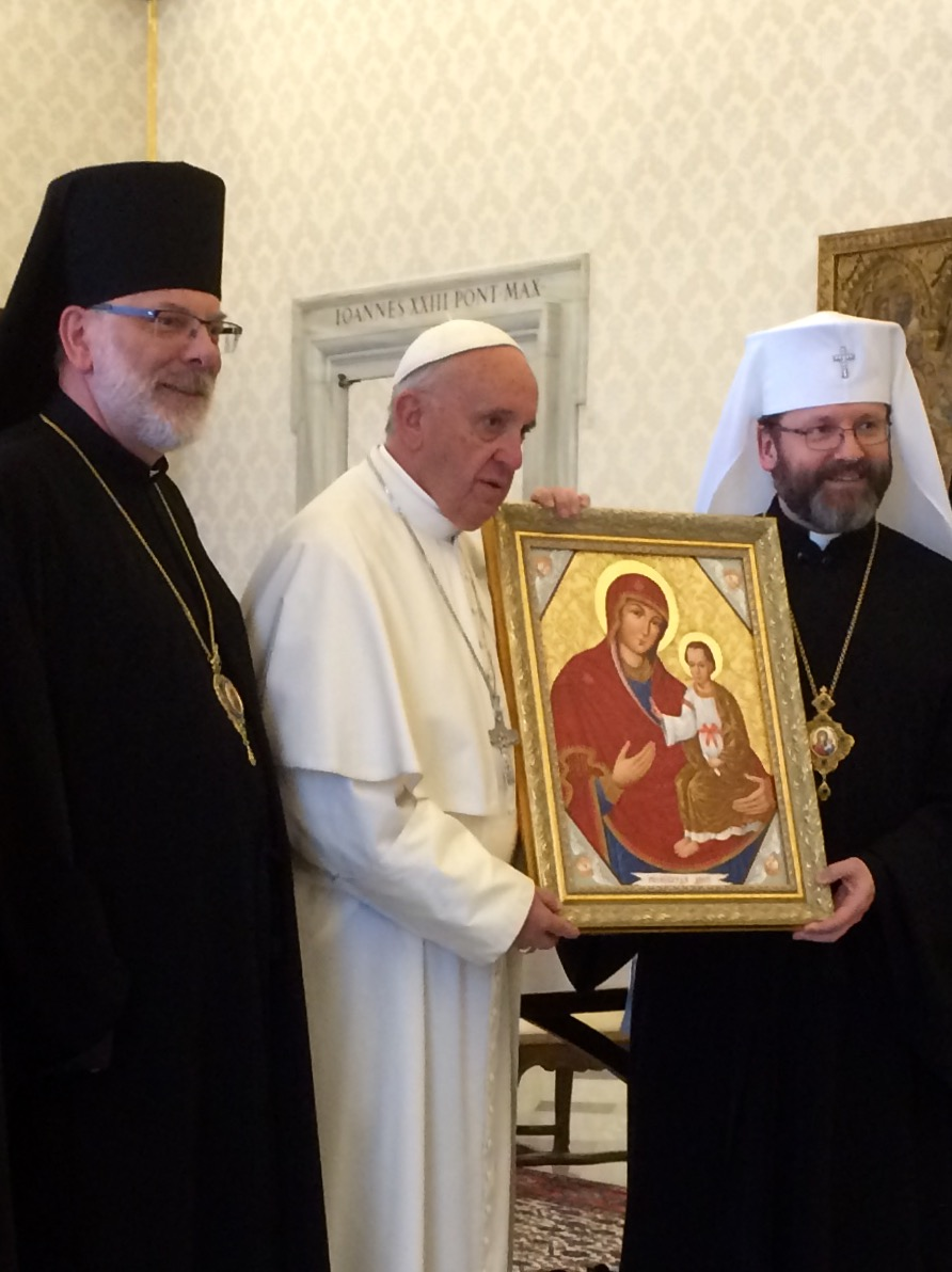 Bishop Ken Nowakowski, Pope Francis, His Beatitude Sviatoslav
